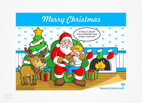 Christmas Card For Market Research Firm Marketing collateral  Draft # 10 by rezaray
