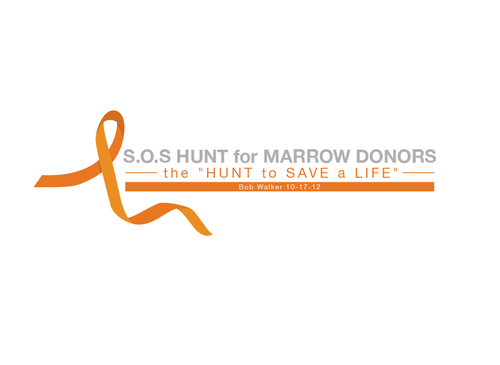 "S.O.S  HUNT for MARROW DONORS ----the ""HUNT to SAVE a LIFE"" ---- Bob Walker 10-17-12       A Logo, Monogram, or Icon  Draft # 18 by PeterZ"