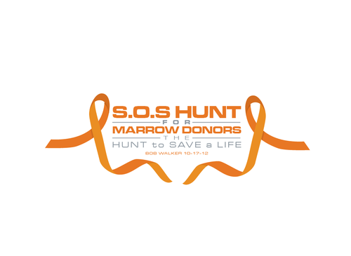 "S.O.S  HUNT for MARROW DONORS ----the ""HUNT to SAVE a LIFE"" ---- Bob Walker 10-17-12       A Logo, Monogram, or Icon  Draft # 19 by PeterZ"