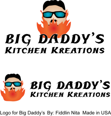 Big Daddy's Kitchen Kreations A Logo, Monogram, or Icon  Draft # 7 by FiddlinNita