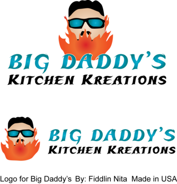 Big Daddy's Kitchen Kreations A Logo, Monogram, or Icon  Draft # 9 by FiddlinNita