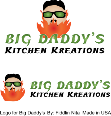 Big Daddy's Kitchen Kreations A Logo, Monogram, or Icon  Draft # 10 by FiddlinNita