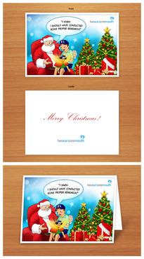 Christmas Card For Market Research Firm Marketing collateral  Draft # 16 by benylimdesign