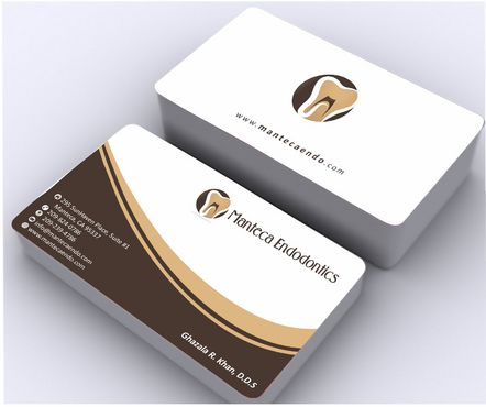 Manteca Endodontics Business Cards and Stationery  Draft # 160 by Deck86