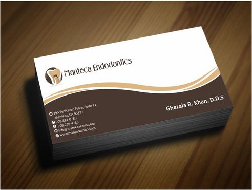 Manteca Endodontics Business Cards and Stationery  Draft # 173 by Deck86