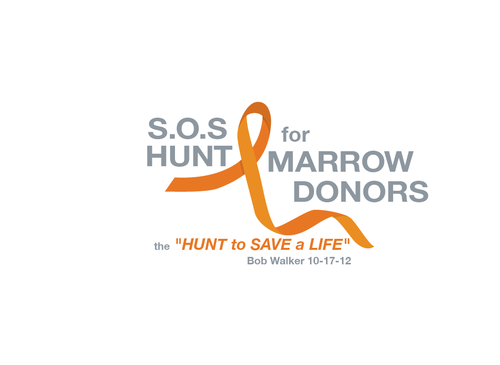 "S.O.S  HUNT for MARROW DONORS ----the ""HUNT to SAVE a LIFE"" ---- Bob Walker 10-17-12       A Logo, Monogram, or Icon  Draft # 28 by PeterZ"