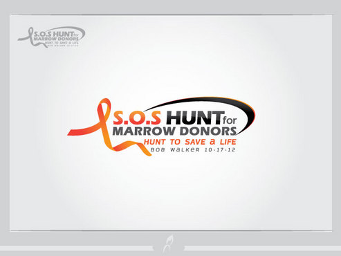 "S.O.S  HUNT for MARROW DONORS ----the ""HUNT to SAVE a LIFE"" ---- Bob Walker 10-17-12       A Logo, Monogram, or Icon  Draft # 29 by Logoziner"