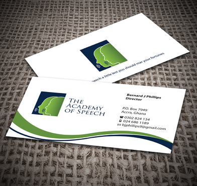 The Academy of Speech Business Cards and Stationery  Draft # 251 by jpgart92