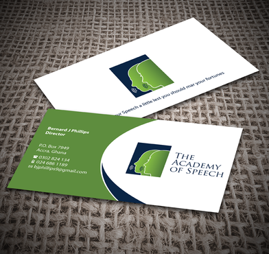 The Academy of Speech Business Cards and Stationery  Draft # 255 by jpgart92