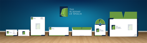 The Academy of Speech Business Cards and Stationery  Draft # 266 by jpgart92