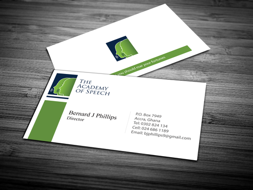 The Academy of Speech Business Cards and Stationery  Draft # 282 by jpgart92
