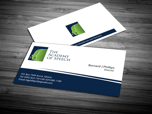 The Academy of Speech Business Cards and Stationery  Draft # 283 by jpgart92