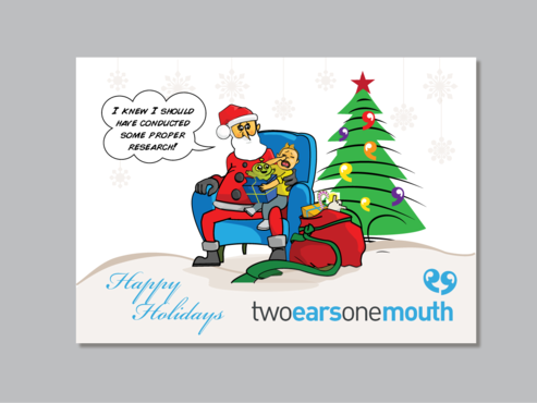 Christmas Card For Market Research Firm Marketing collateral  Draft # 18 by Mariposa