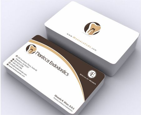 Manteca Endodontics Business Cards and Stationery  Draft # 190 by Deck86