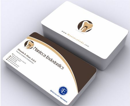 Manteca Endodontics Business Cards and Stationery  Draft # 191 by Deck86