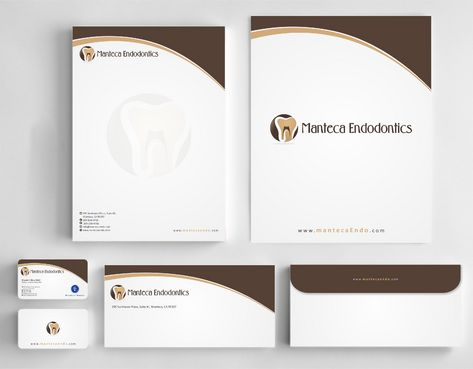 Manteca Endodontics Business Cards and Stationery  Draft # 195 by Deck86