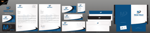 Metal Manufacturing Business Cards and Stationery Winning Design by einsanimation