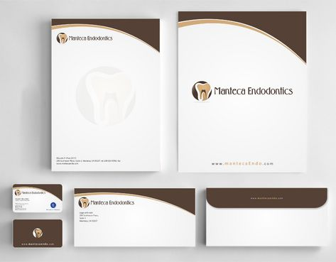 Manteca Endodontics Business Cards and Stationery  Draft # 214 by Deck86