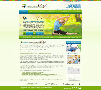 Personalized Lifestyle & Integrative Center of Tidewater Complete Web Design Solution Winning Design by MeGaMax3Ds2Dio