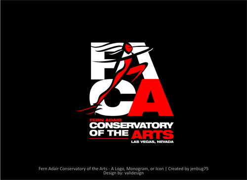Fern Adair Conservatory of the Arts Logo Winning Design by validesign