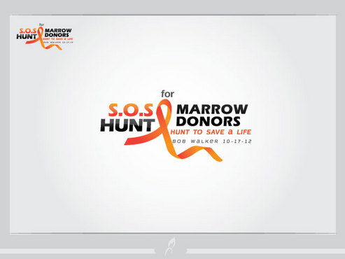 "S.O.S  HUNT for MARROW DONORS ----the ""HUNT to SAVE a LIFE"" ---- Bob Walker 10-17-12       A Logo, Monogram, or Icon  Draft # 33 by Logoziner"