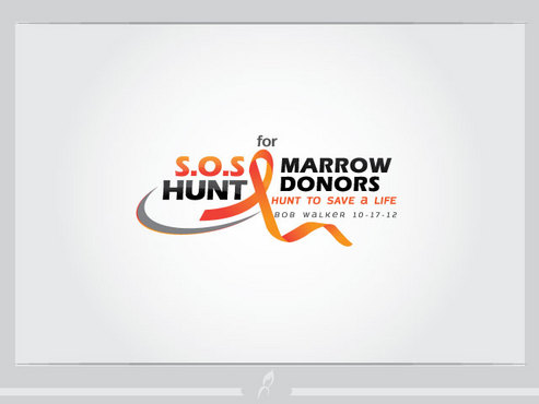"S.O.S  HUNT for MARROW DONORS ----the ""HUNT to SAVE a LIFE"" ---- Bob Walker 10-17-12       A Logo, Monogram, or Icon  Draft # 34 by Logoziner"