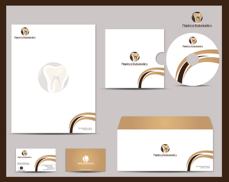 Manteca Endodontics Business Cards and Stationery  Draft # 287 by jpgart92