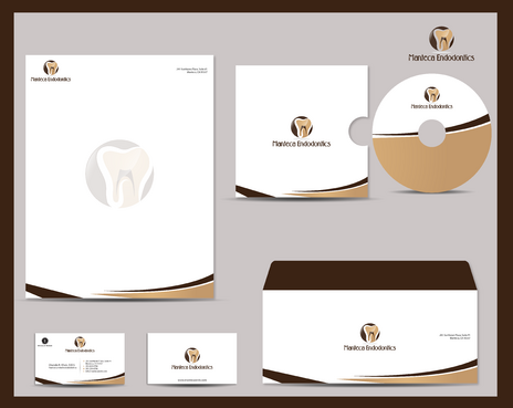 Manteca Endodontics Business Cards and Stationery  Draft # 289 by jpgart92