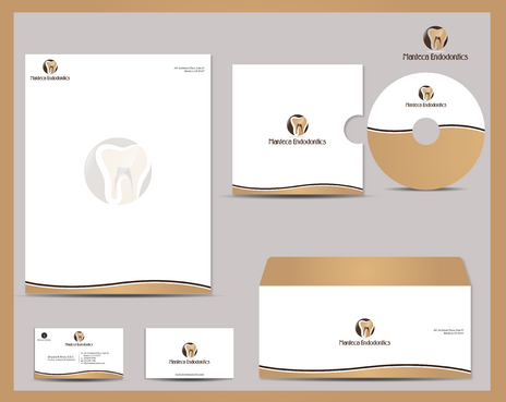 Manteca Endodontics Business Cards and Stationery  Draft # 290 by jpgart92