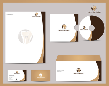 Manteca Endodontics Business Cards and Stationery  Draft # 291 by jpgart92
