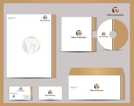 Manteca Endodontics Business Cards and Stationery  Draft # 292 by jpgart92