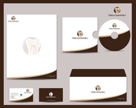 Manteca Endodontics Business Cards and Stationery  Draft # 293 by jpgart92