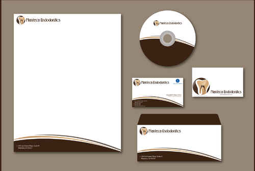 Manteca Endodontics Business Cards and Stationery  Draft # 294 by jpgart92