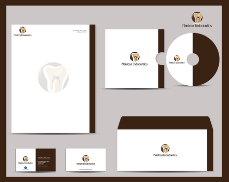 Manteca Endodontics Business Cards and Stationery  Draft # 295 by jpgart92