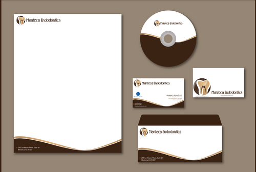 Manteca Endodontics Business Cards and Stationery  Draft # 297 by jpgart92