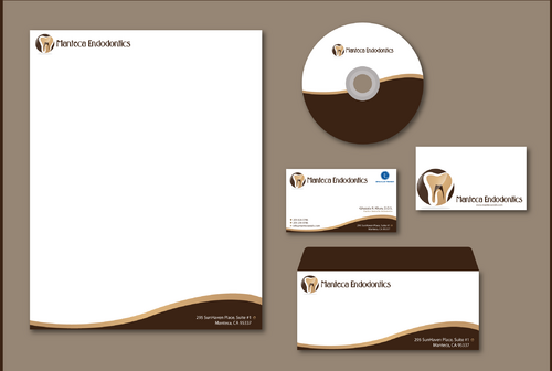 Manteca Endodontics Business Cards and Stationery  Draft # 296 by jpgart92