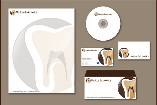 Manteca Endodontics Business Cards and Stationery  Draft # 298 by jpgart92