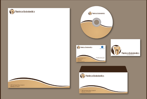 Manteca Endodontics Business Cards and Stationery  Draft # 299 by jpgart92