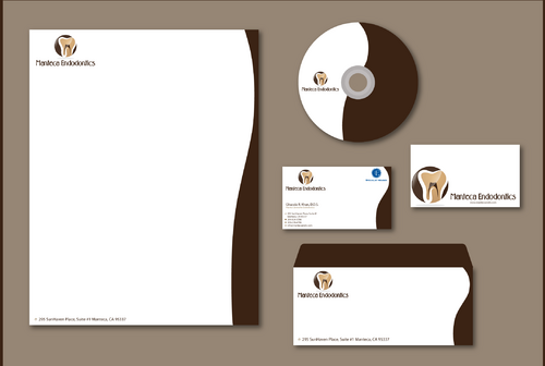 Manteca Endodontics Business Cards and Stationery  Draft # 300 by jpgart92