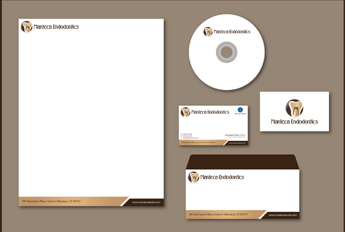 Manteca Endodontics Business Cards and Stationery  Draft # 301 by jpgart92