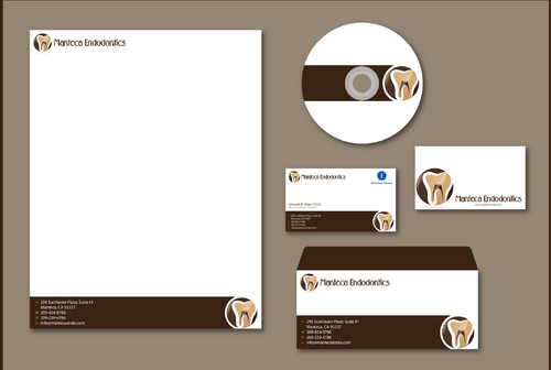 Manteca Endodontics Business Cards and Stationery  Draft # 302 by jpgart92