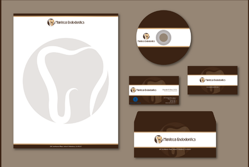 Manteca Endodontics Business Cards and Stationery  Draft # 304 by jpgart92