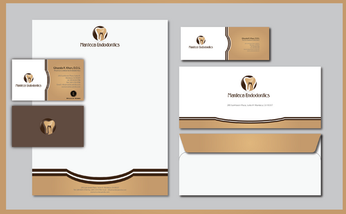 Manteca Endodontics Business Cards and Stationery  Draft # 306 by jpgart92