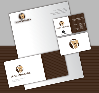 Manteca Endodontics Business Cards and Stationery  Draft # 308 by jpgart92