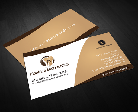 Manteca Endodontics Business Cards and Stationery  Draft # 310 by jpgart92