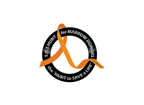 "S.O.S  HUNT for MARROW DONORS ----the ""HUNT to SAVE a LIFE"" ---- Bob Walker 10-17-12       A Logo, Monogram, or Icon  Draft # 39 by PeterZ"