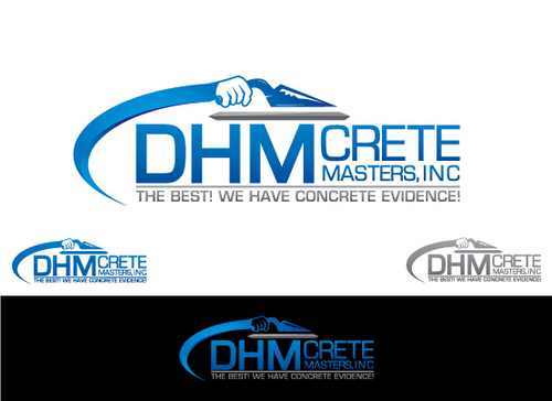 DHM Crete Masters, Inc. (not sure if it needs to be in design but that's the name of company A Logo, Monogram, or Icon  Draft # 180 by Filter