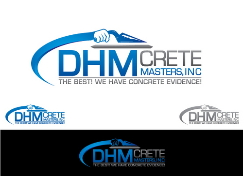 DHM Crete Masters, Inc. (not sure if it needs to be in design but that's the name of company A Logo, Monogram, or Icon  Draft # 181 by Filter