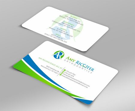 Amy Richter Orthodontics Business Cards and Stationery  Draft # 89 by Deck86