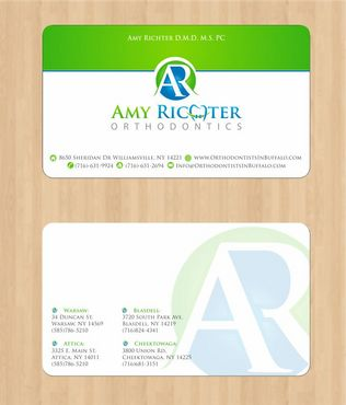 Amy Richter Orthodontics Business Cards and Stationery  Draft # 91 by Deck86